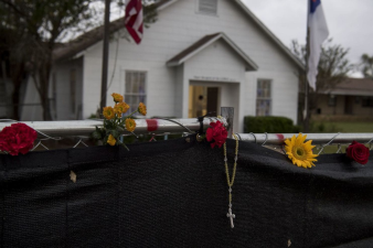 Photo from https://www.washingtonpost.com/news/post-nation/wp/2017/11/13/texas-church-becomes-a-solemn-memorial-a-week-after-shooting-massacre/?utm_term=.12f27acf5bf9